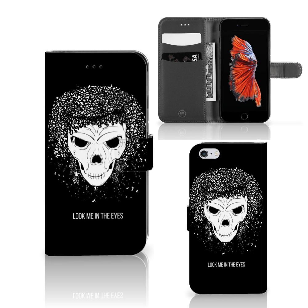 Telefoonhoesje met Naam Apple iPhone 6 Plus | 6s Plus Skull Hair