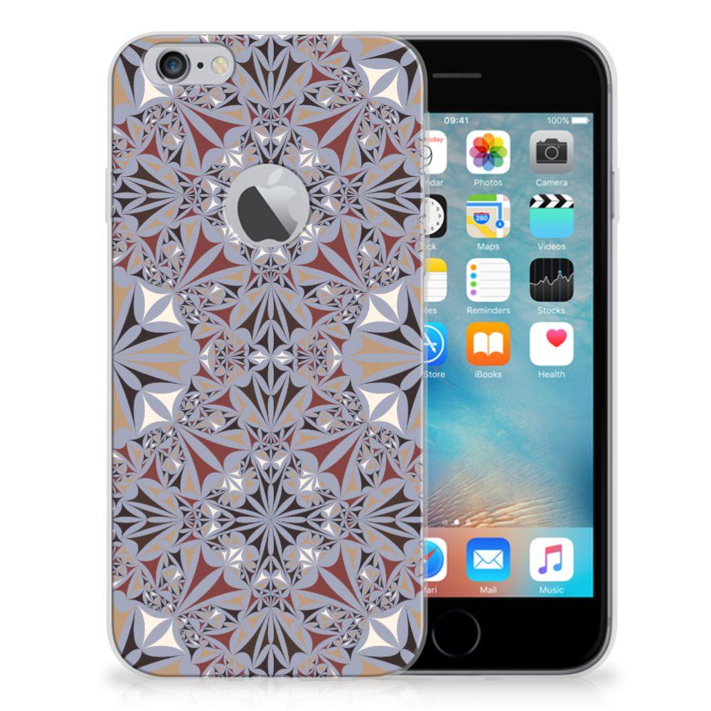 Apple iPhone 6 Plus | 6s Plus TPU Siliconen Hoesje Flower Tiles