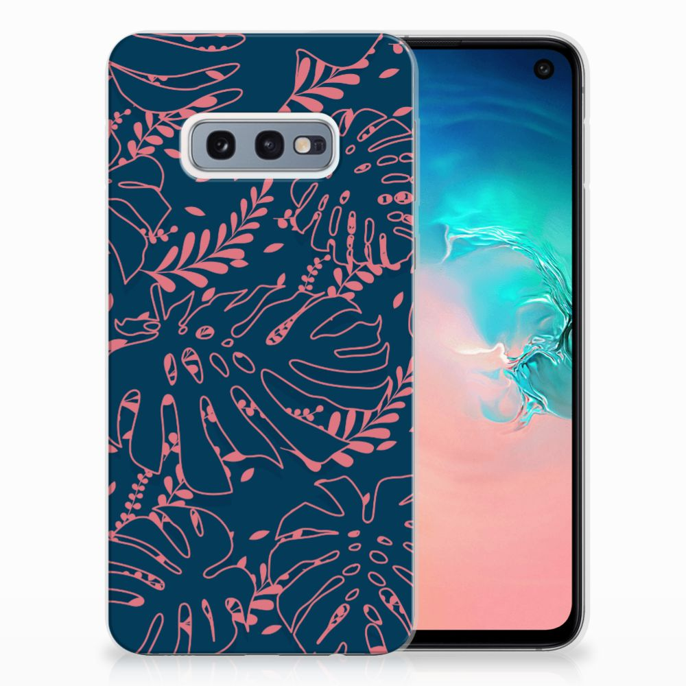 Samsung Galaxy S10e TPU Hoesje Design Palm Leaves