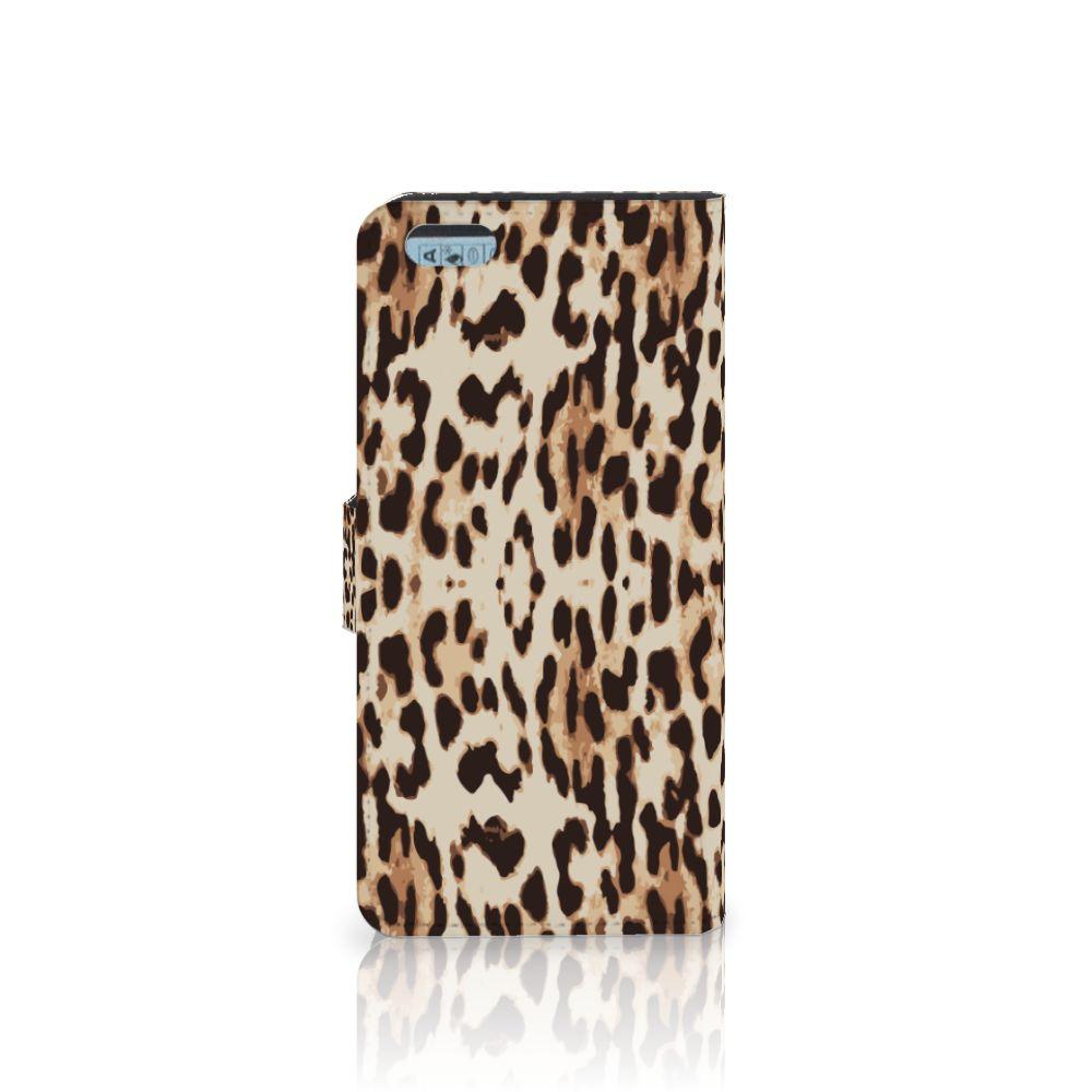 Apple iPhone 6 Plus | 6s Plus Telefoonhoesje met Pasjes Leopard