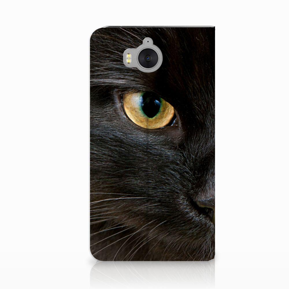 Huawei Y5 | Y6 2017 Hoesje maken Zwarte Kat