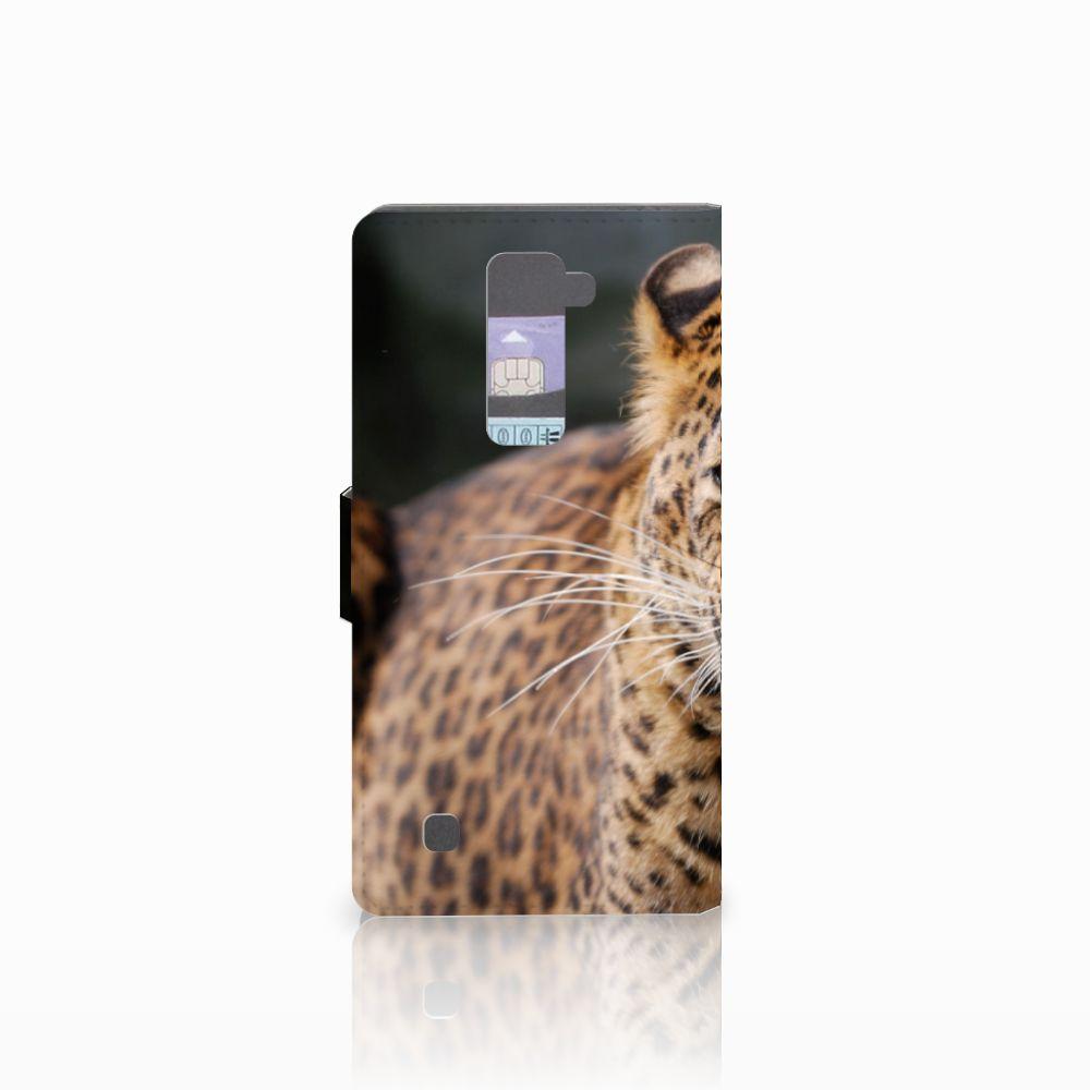 LG K10 2015 Telefoonhoesje met Pasjes Luipaard