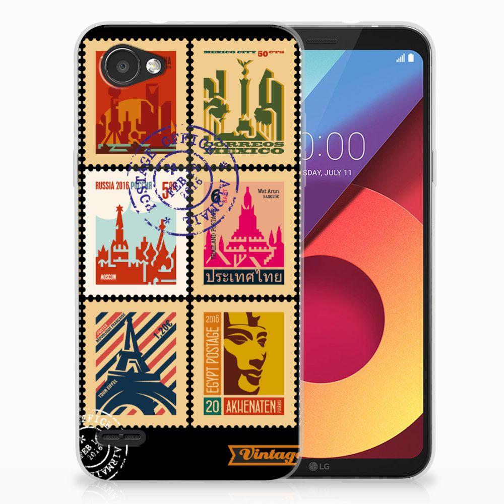 LG Q6 | LG Q6 Plus Uniek TPU Hoesje Postzegels