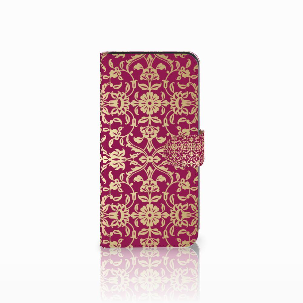 Wallet Case Samsung Galaxy E7 Barok Pink