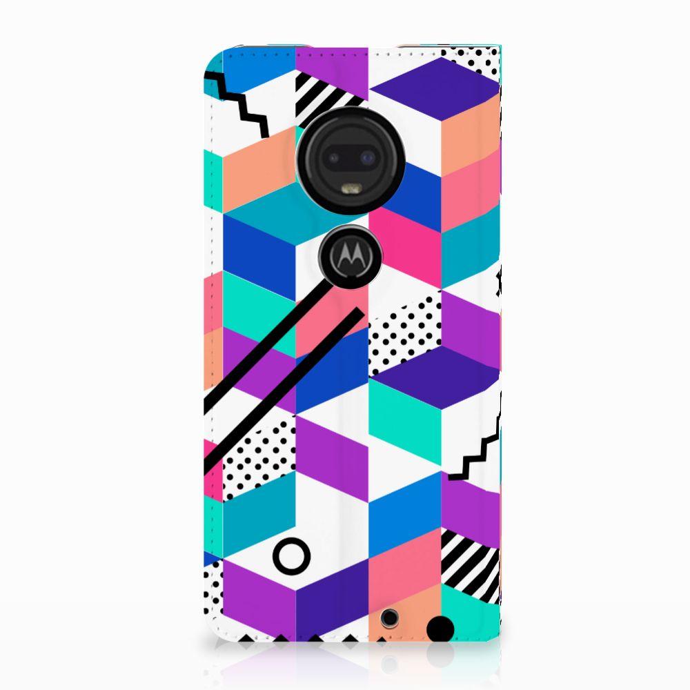 Motorola Moto G7 | G7 Plus Stand Case Blokken Kleurrijk