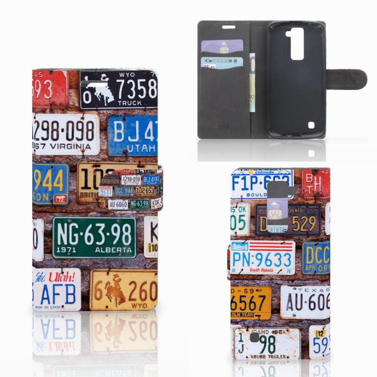 LG K10 2015 Telefoonhoesje met foto Kentekenplaten