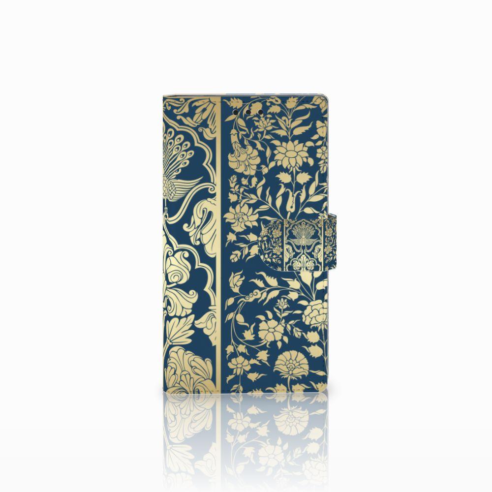 Sony Xperia L2 Uniek Boekhoesje Golden Flowers
