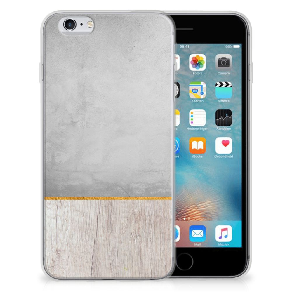 Apple iPhone 6 | 6s Bumper Hoesje Wood Concrete