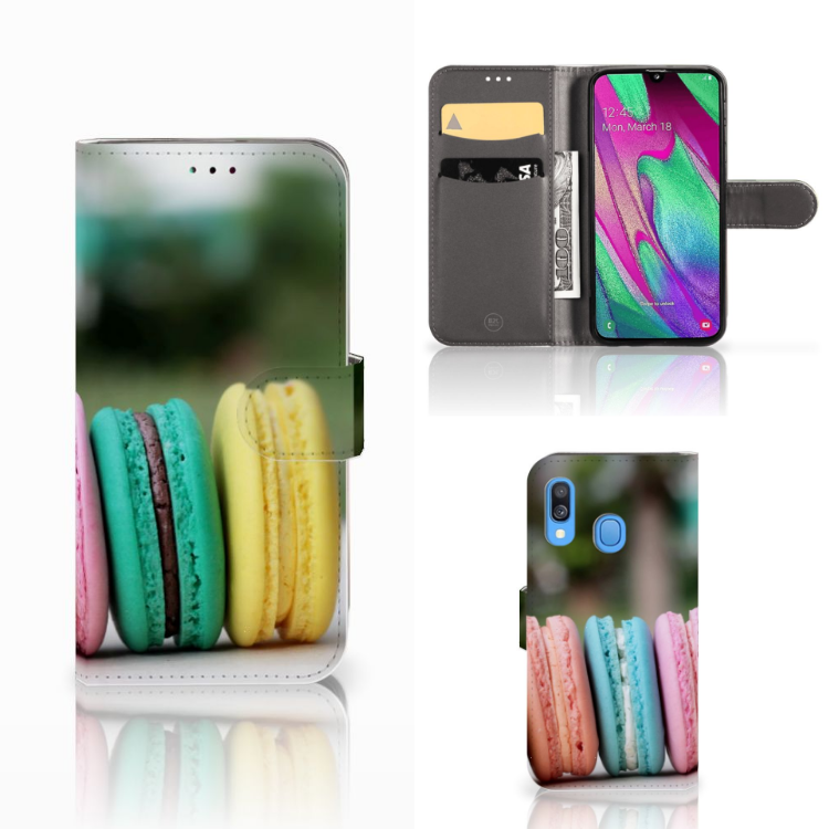 Samsung Galaxy A40 Book Cover Macarons