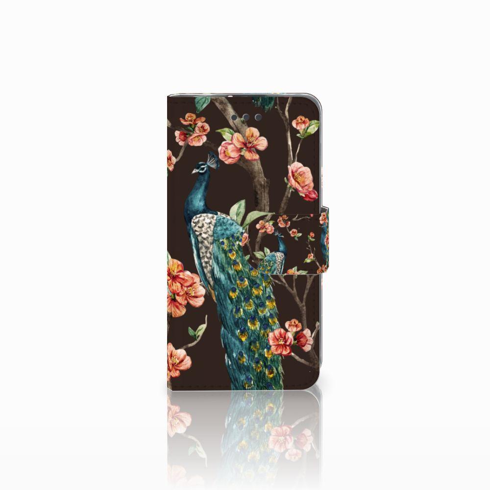 LG L70 Boekhoesje Design Pauw met Bloemen