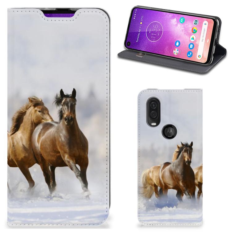 Motorola One Vision Hoesje maken Paarden
