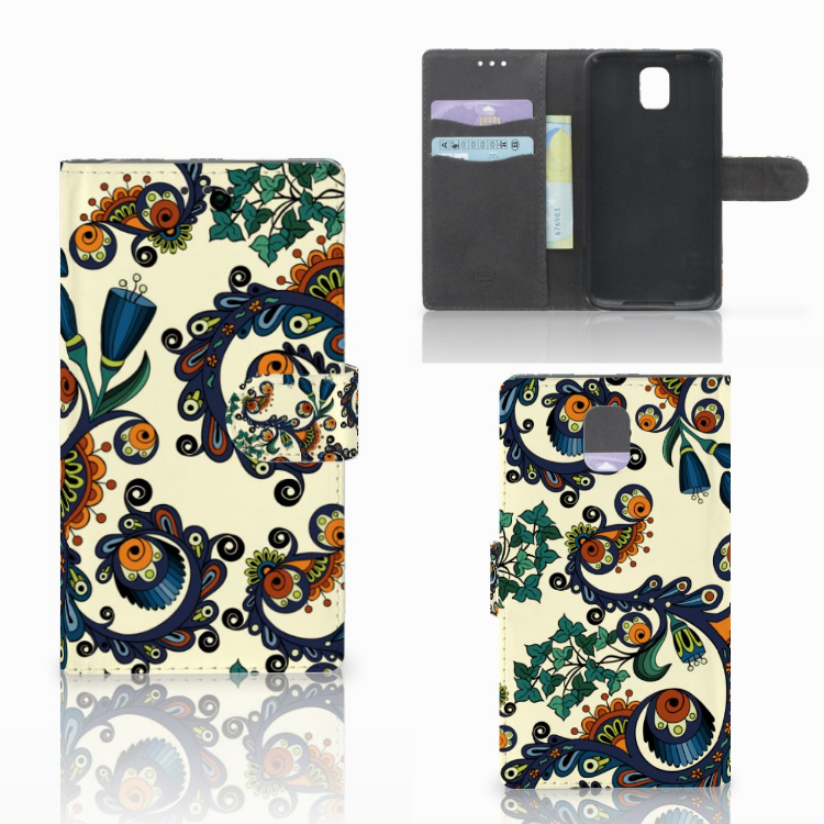 Wallet Case Samsung Galaxy Note 3 Barok Flower