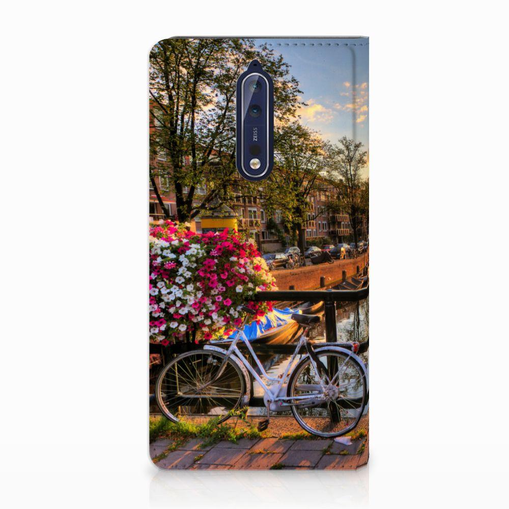 Nokia 8 Uniek Standcase Hoesje Amsterdamse Grachten