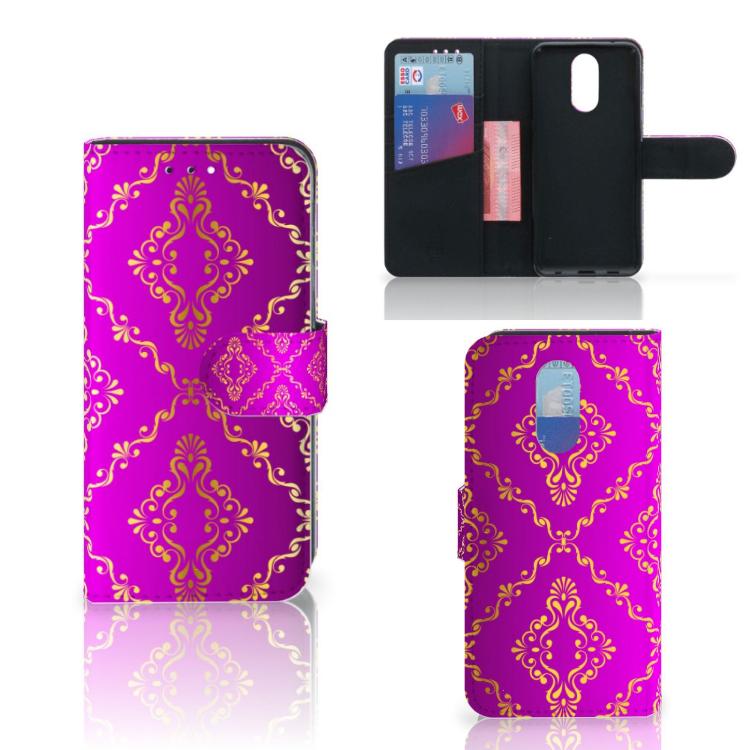 Wallet Case LG Q7 Barok Roze