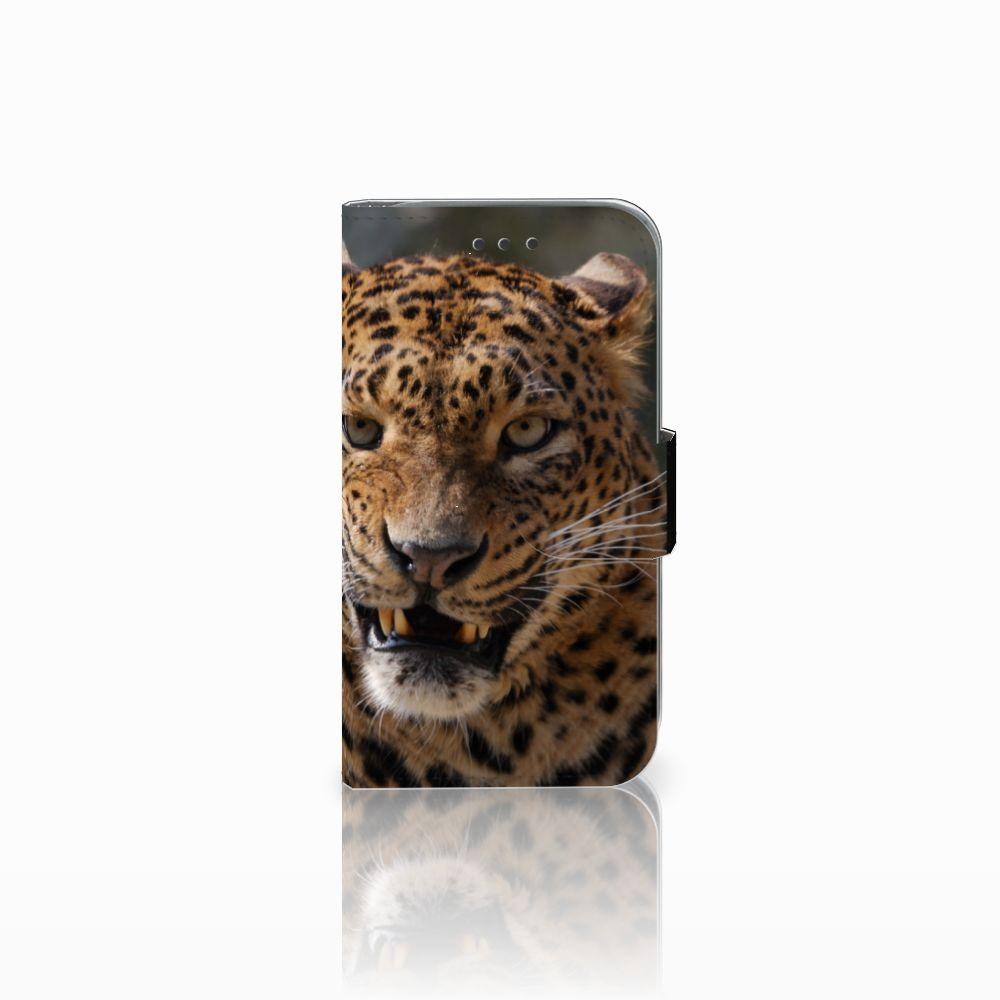 Samsung Galaxy Core Prime Telefoonhoesje met Pasjes Luipaard