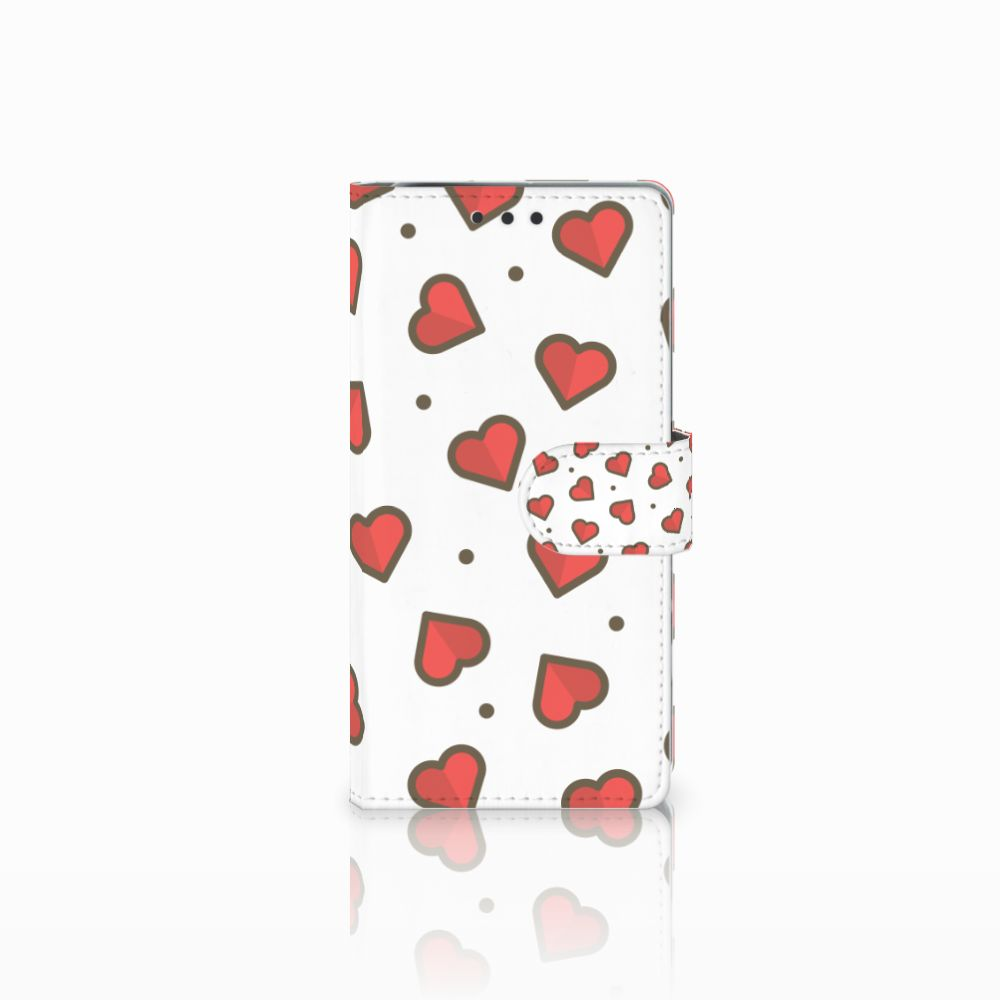 Sony Xperia X Performance Boekhoesje Design Hearts