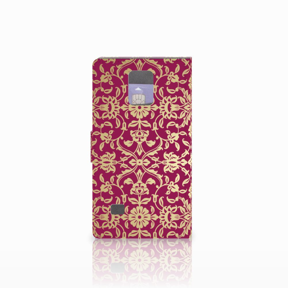 Wallet Case Samsung Galaxy Note 4 Barok Pink