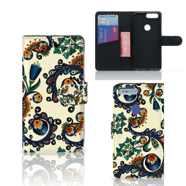 Wallet Case OnePlus 5T Barok Flower