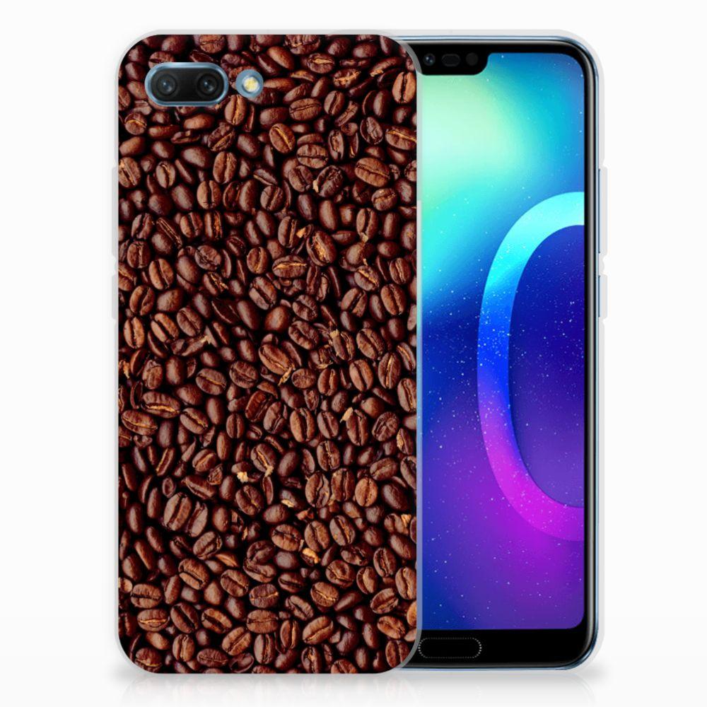 Huawei Honor 10 Siliconen Case Koffiebonen