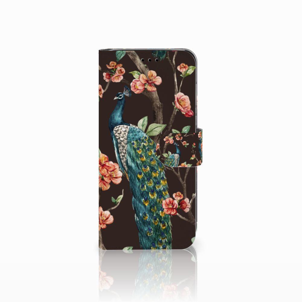 Huawei P20 Lite Boekhoesje Design Pauw met Bloemen