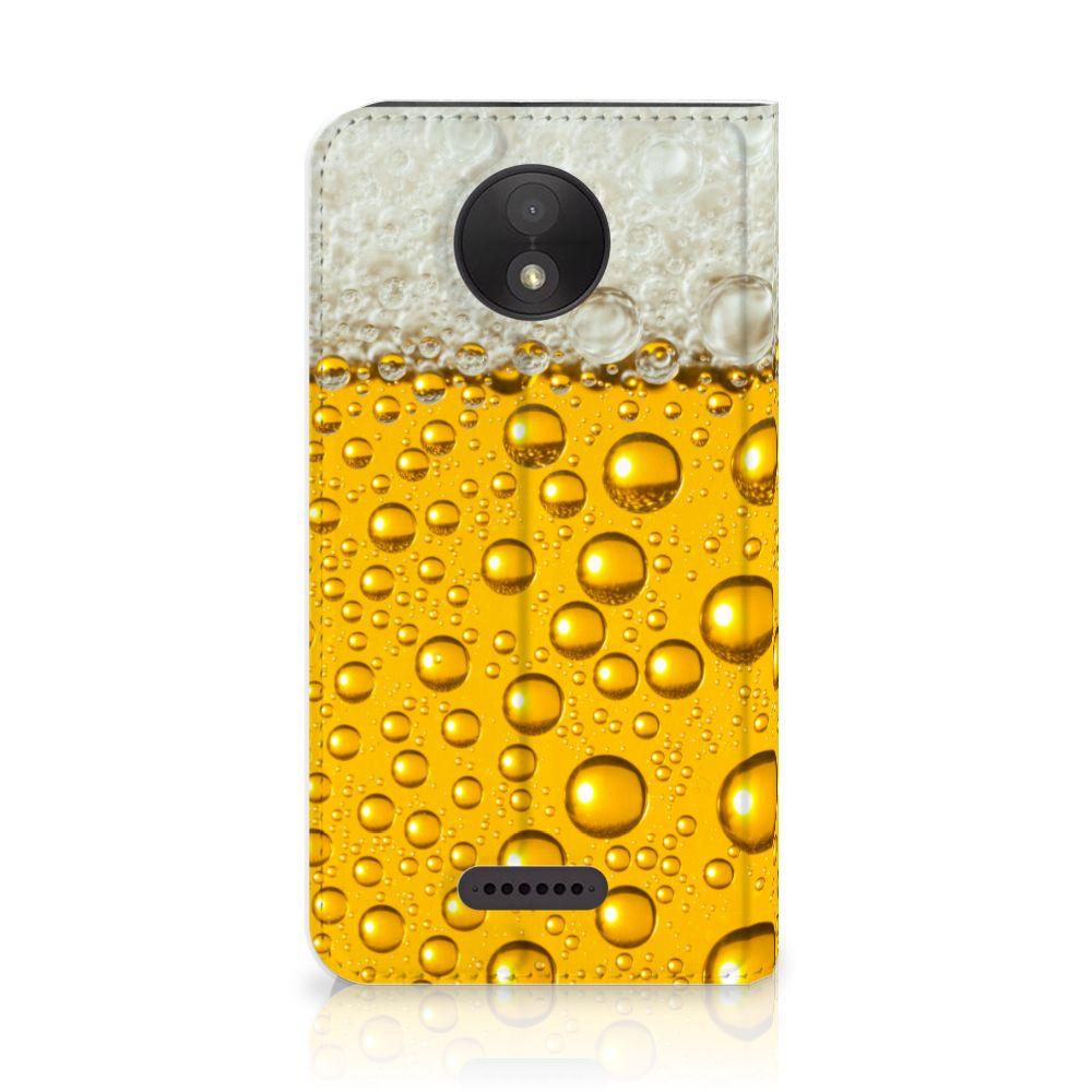 Motorola Moto C Plus Uniek Standcase Hoesje Bier