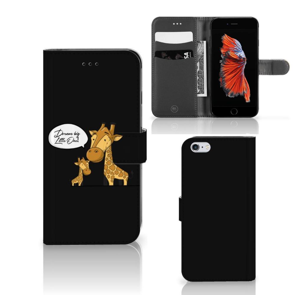 Apple iPhone 6 Plus   6s Plus Leuke Hoesje Giraffe
