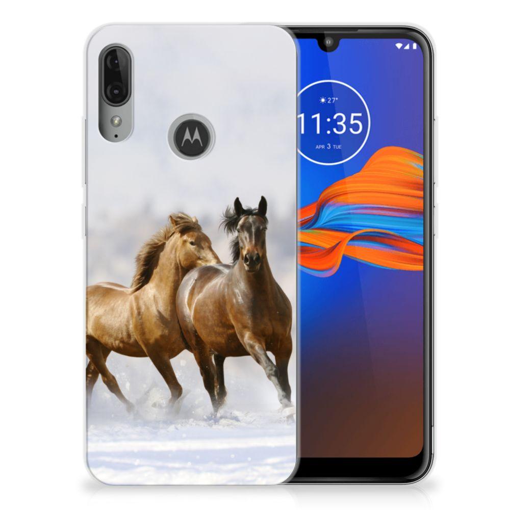 Motorola Moto E6 Plus TPU Hoesje Paarden