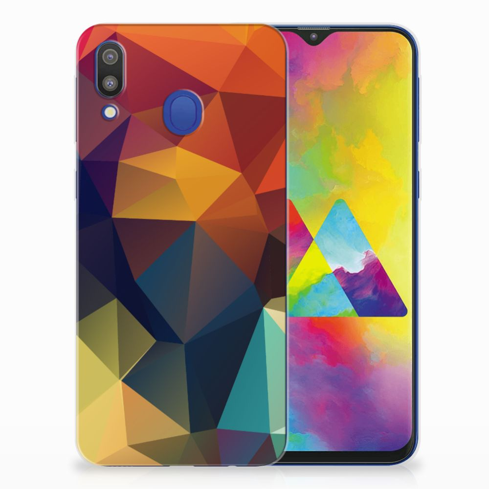 Samsung Galaxy M20 (Power) TPU Hoesje Polygon Color