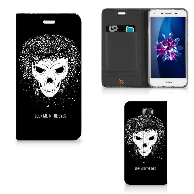 Mobiel BookCase Huawei Y5 2 | Y6 Compact Skull Hair