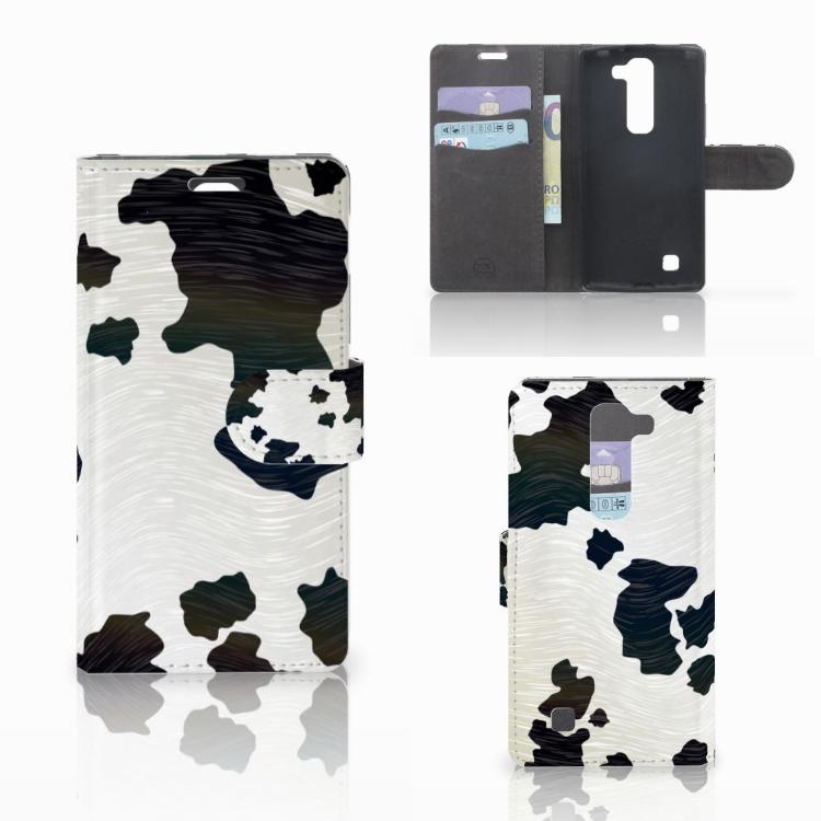LG Magna | G4C Telefoonhoesje met Pasjes Koeienvlekken