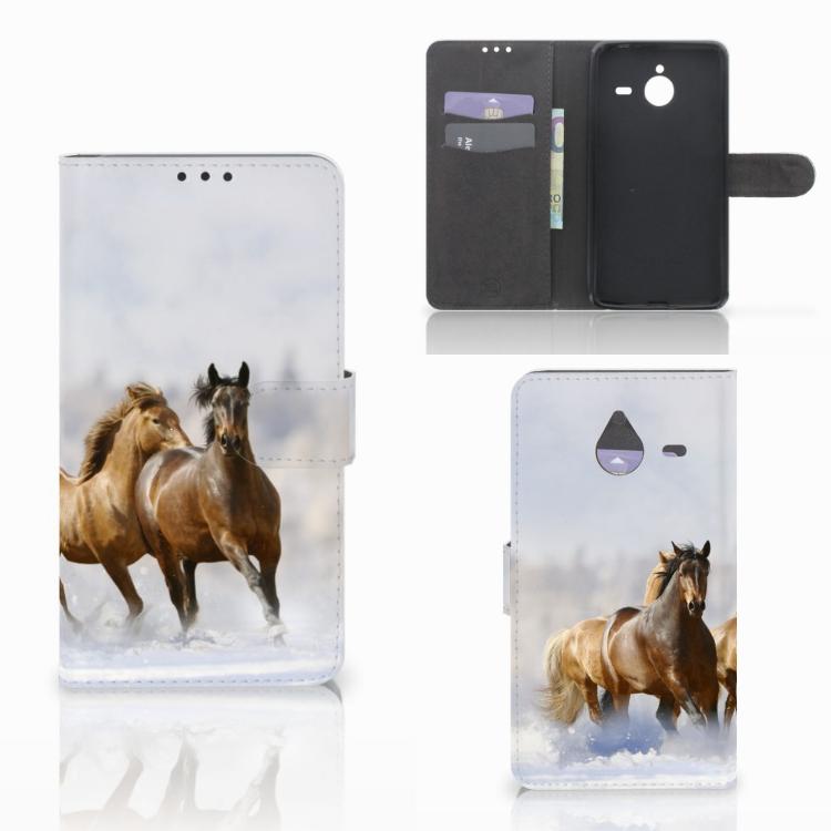 Microsoft Lumia 640 XL Telefoonhoesje met Pasjes Paarden