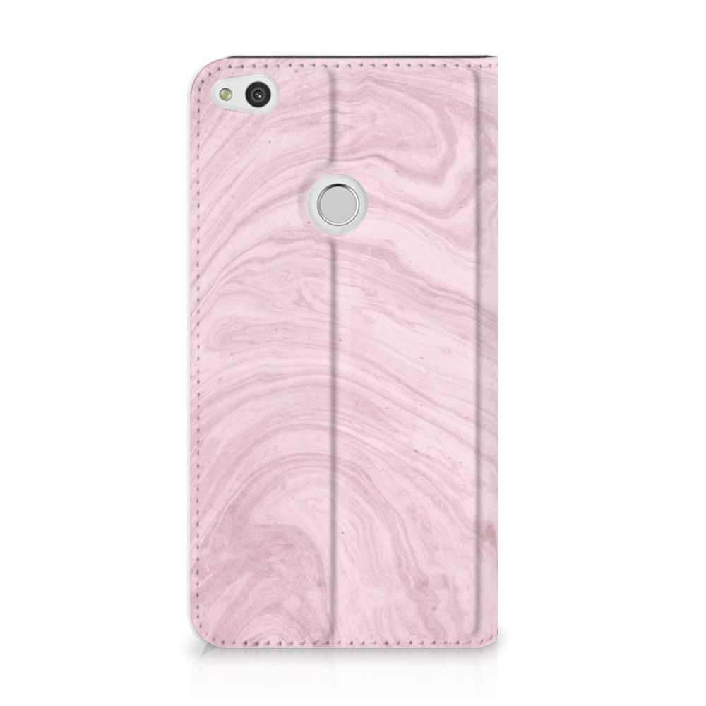 Huawei P8 Lite 2017 Standcase Hoesje Marble Pink