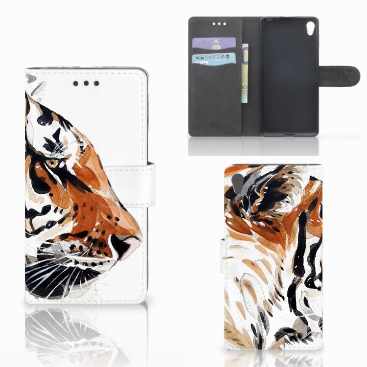 Hoesje Sony Xperia E5 Watercolor Tiger
