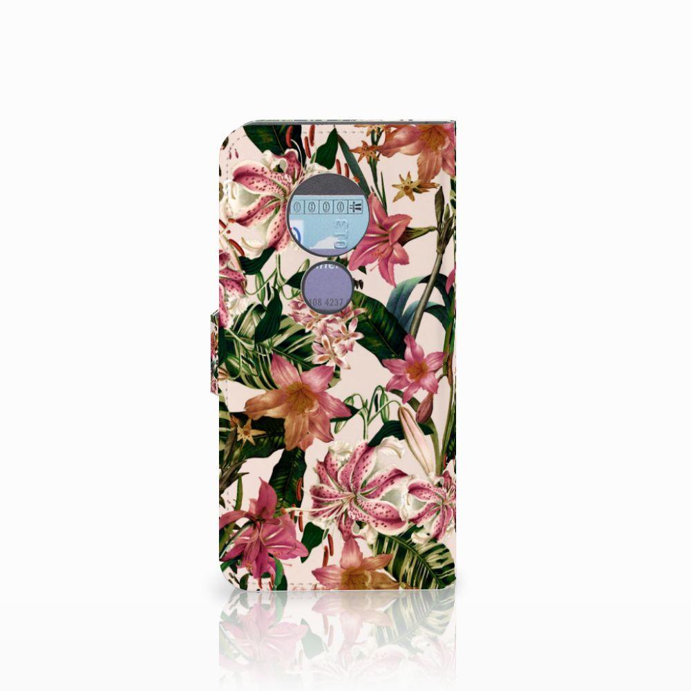 Motorola Moto G6 Play Hoesje Flowers