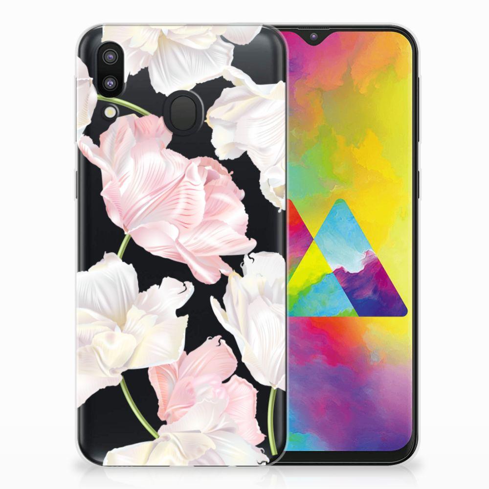 Samsung Galaxy M20 TPU Hoesje Design Lovely Flowers