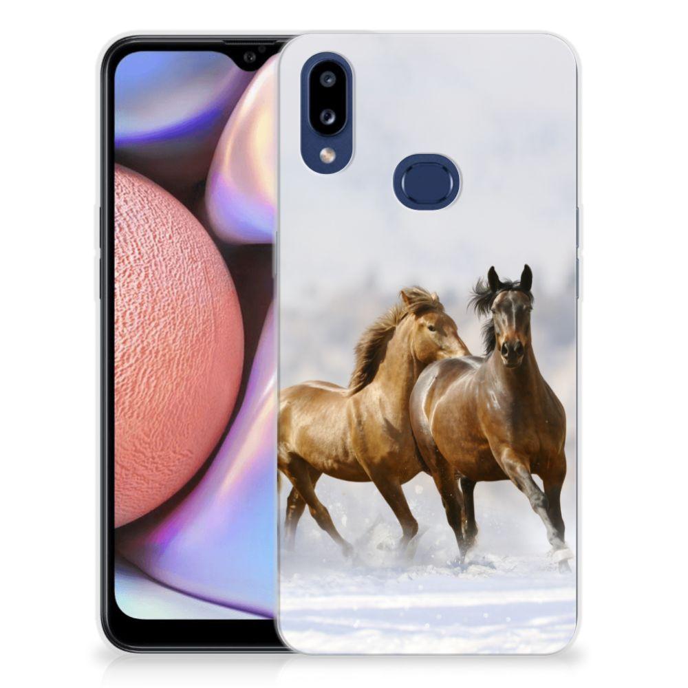 Samsung Galaxy A10s TPU Hoesje Paarden