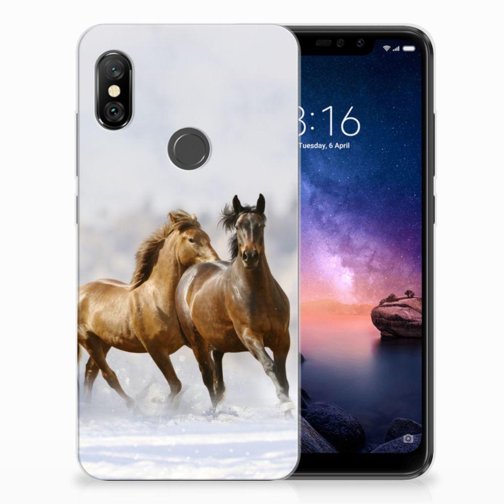 Xiaomi Redmi Note 6 Pro Leuk Hoesje Paarden