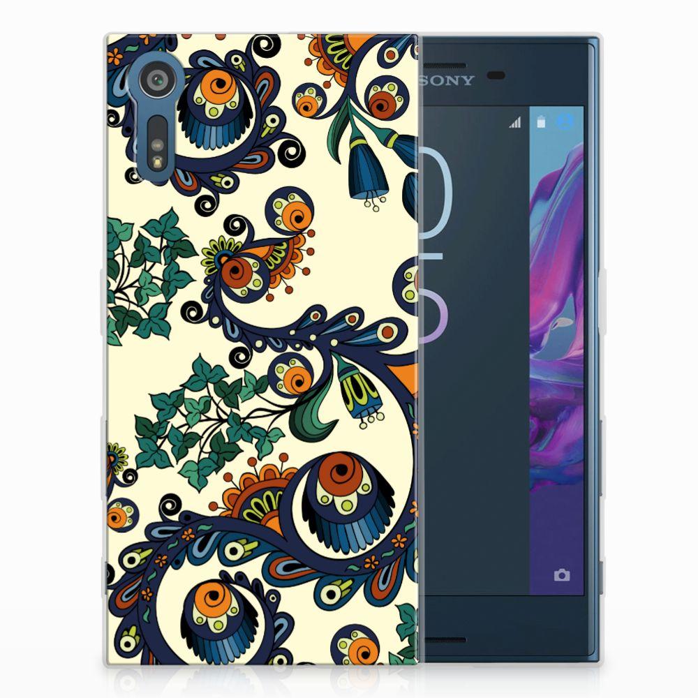 Siliconen Hoesje Sony Xperia XZs   XZ Barok Flower