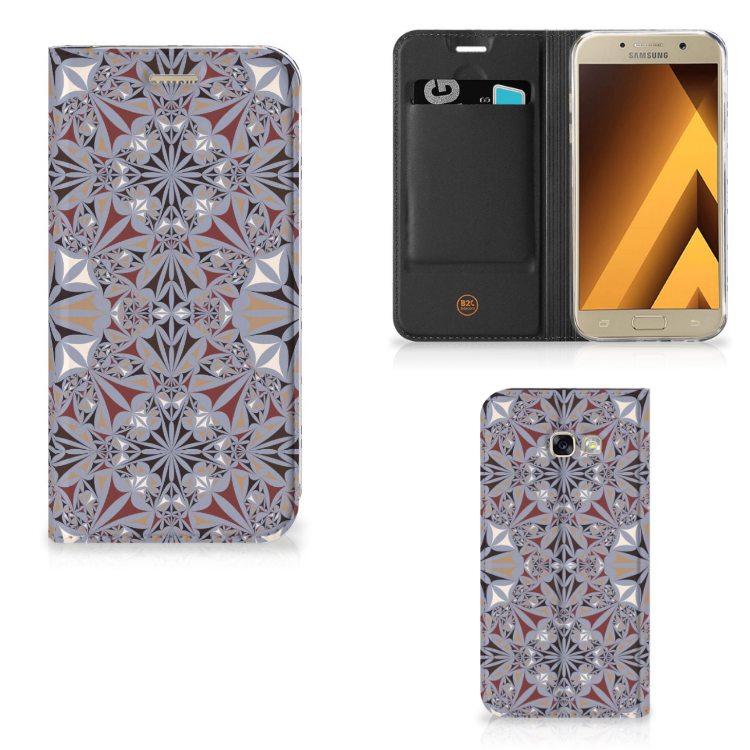 Samsung Galaxy A5 2017 Standcase Flower Tiles