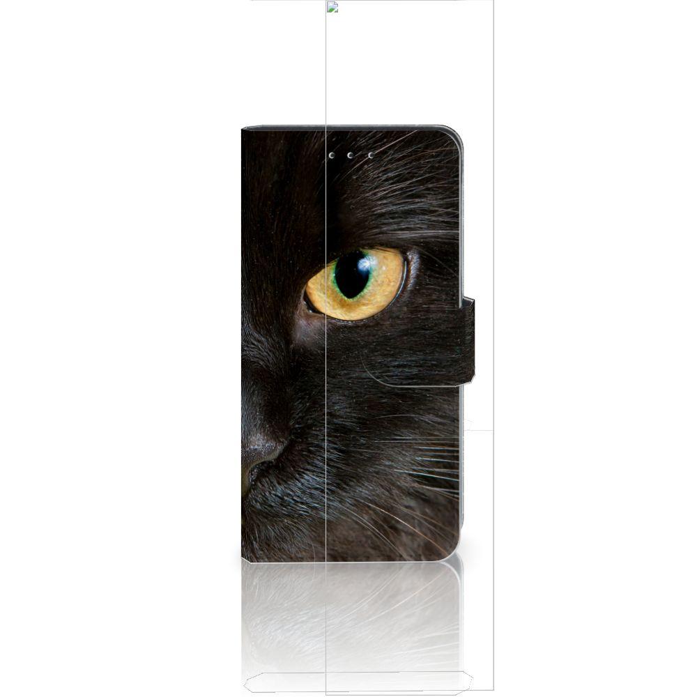 Huawei P20 Uniek Boekhoesje Zwarte Kat