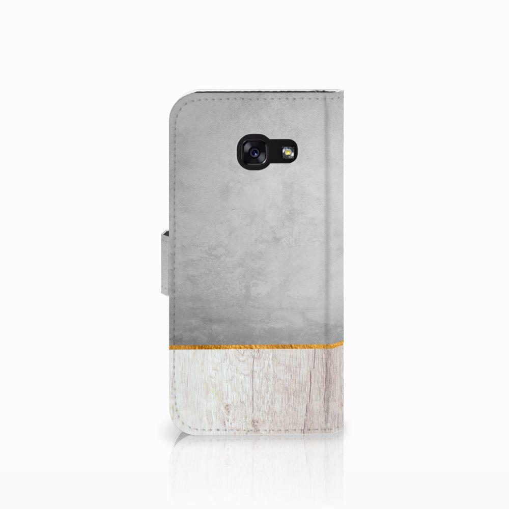 Samsung Galaxy A5 2017 Book Style Case Wood Concrete