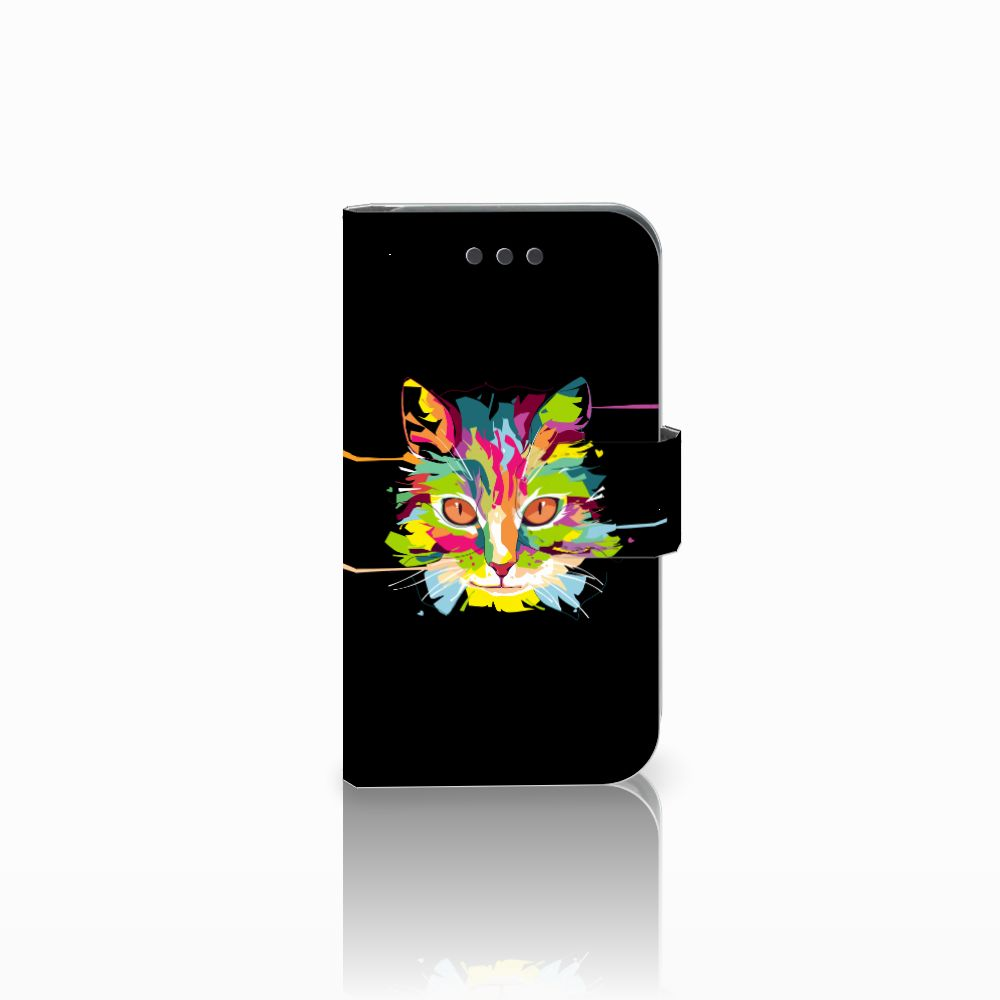 Samsung Galaxy Core 2 Uniek Boekhoesje Cat Color
