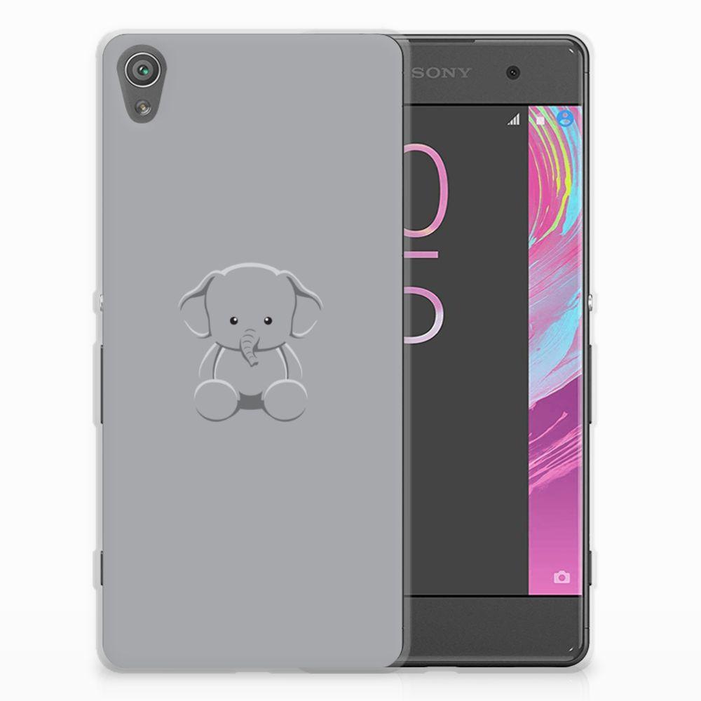 Sony Xperia XA | XA Dual Uniek TPU Hoesje Baby Olifant