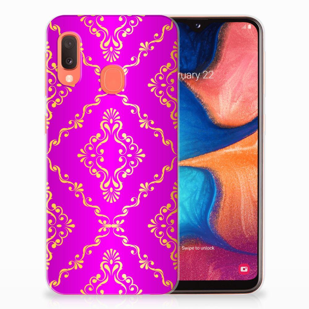 Siliconen Hoesje Samsung Galaxy A20e Barok Roze