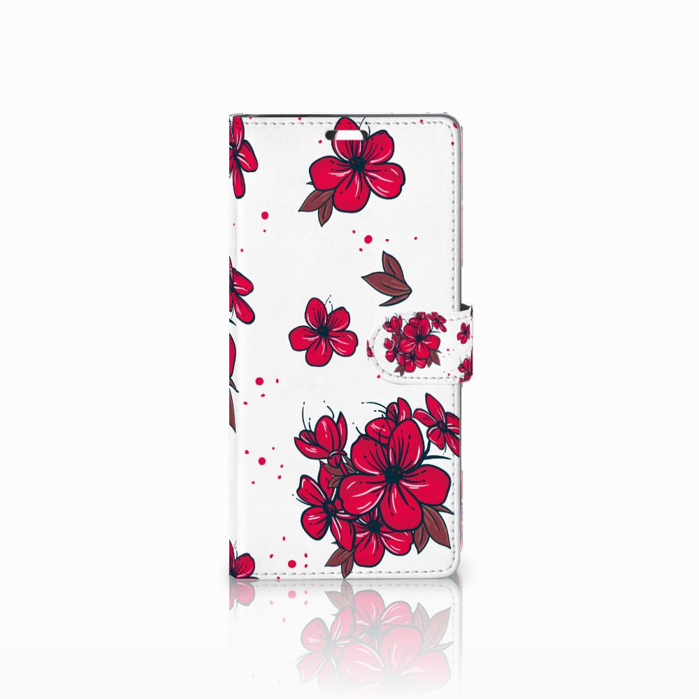 Sony Xperia C5 Ultra Boekhoesje Design Blossom Red