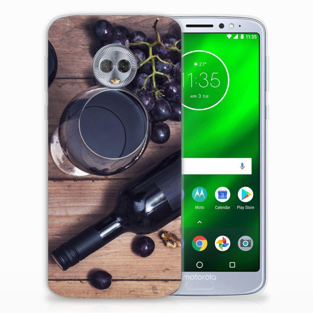 Motorola Moto G6 Plus Siliconen Case Wijn