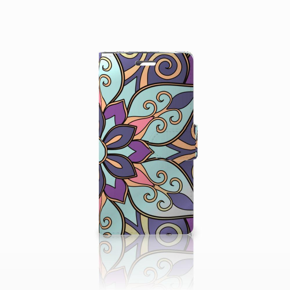 LG K10 2015 Boekhoesje Design Purple Flower
