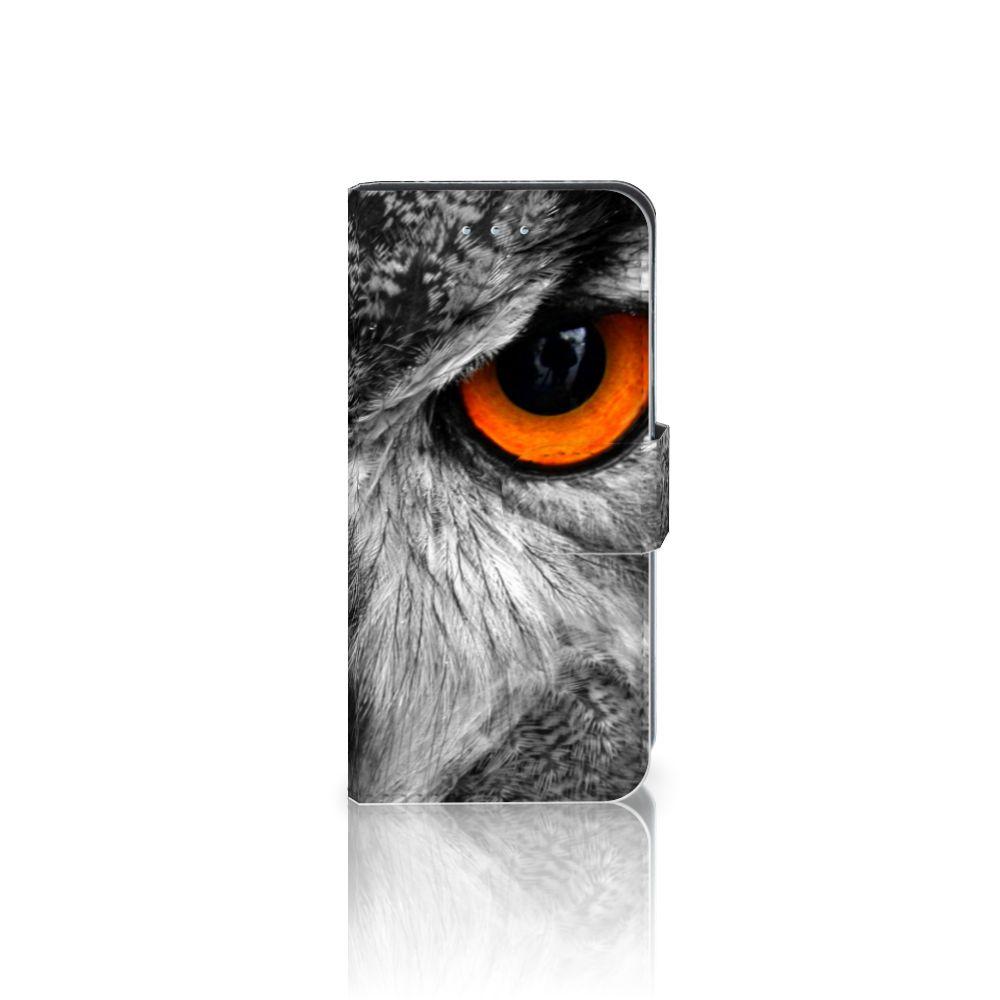 Samsung Galaxy S6 Edge Telefoonhoesje met Pasjes Uil