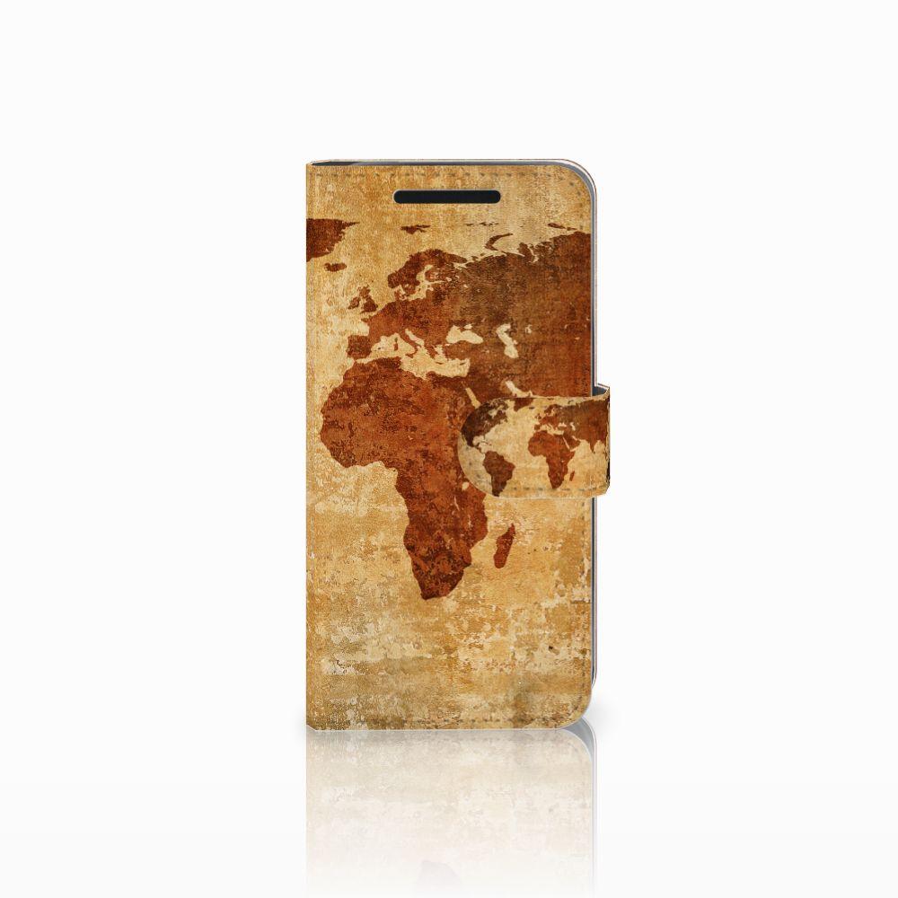 HTC One M9 Flip Cover Wereldkaart