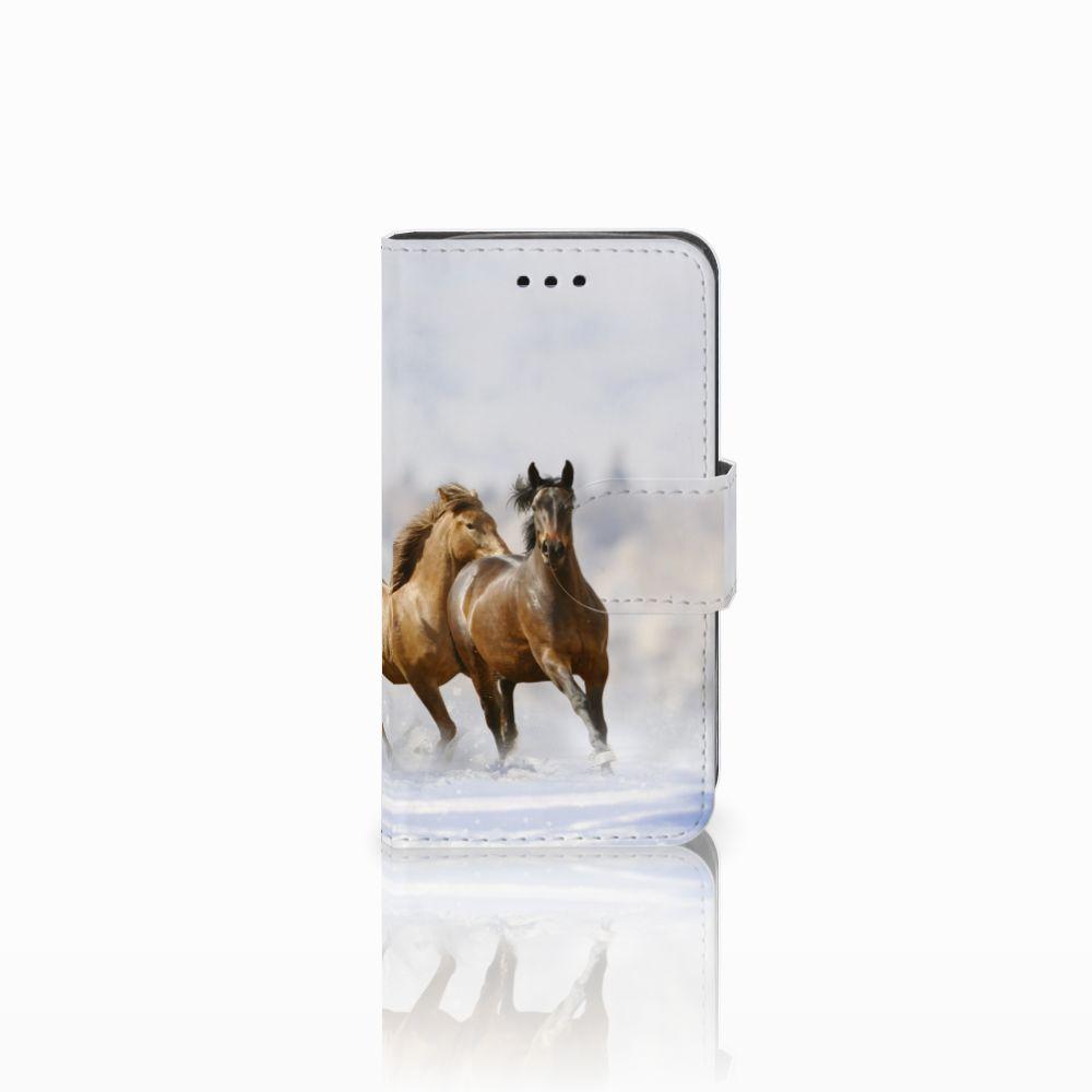 Samsung Galaxy Trend 2 Uniek Boekhoesje Paarden